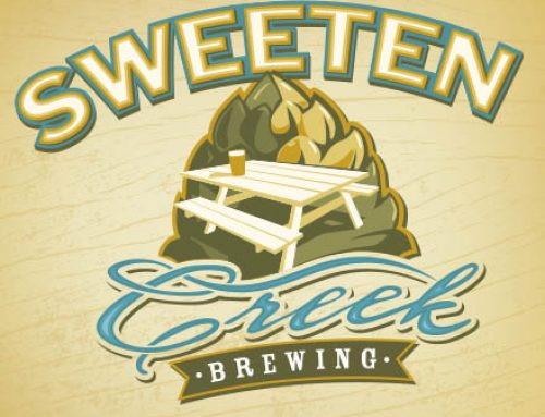 SWEETEN CREEK BREWING LOGO AND BRANDING